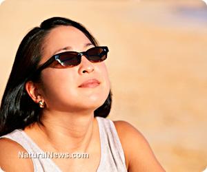 Asian-Woman-Sun